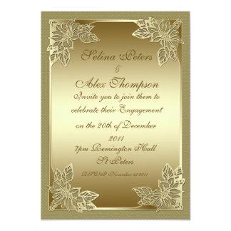 Gold Engagement Invitation 2