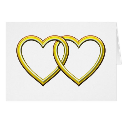 GOLD ENTWINED HEARTS CARDS