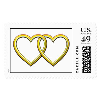 GOLD ENTWINED HEARTS POSTAGE