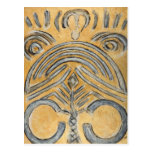 Gold Ethnic Abstract Fine Art Postcards