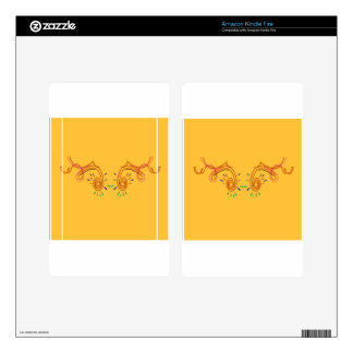 Gold ethno Design elements Decal For Kindle Fire