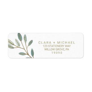 Gold Eucalyptus Wedding Label