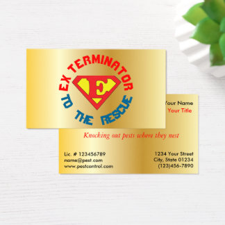 Gold Exterminator to the Rescue Pest Con 2 Sided Business Card