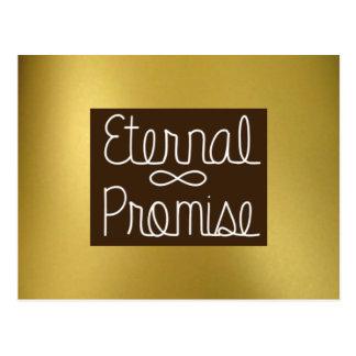 Gold External Promise Postcard