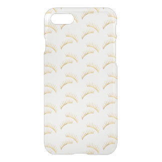 Gold Eyelashes iPhone 8/7 Case
