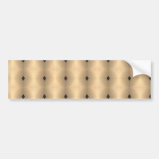 Gold-Faced Diamonds Design Pattern Bumper Sticker