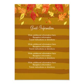 Gold Fall Autumn Leaves Card
