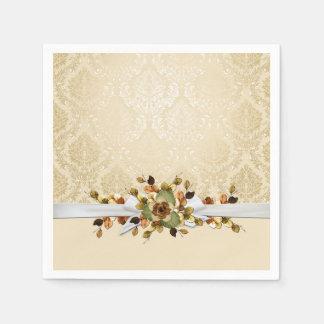 Gold Fall Beauty Ribbon Elegant Napkins