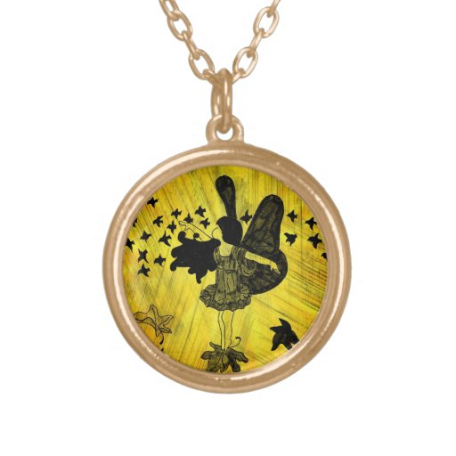 Gold Fall Fairy Necklace