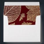 "gold fall leaves burgundy vintage fall wedding envelope<br><div class=""desc"">gold leaves fall burgundy wedding A7 envelopes</div>"