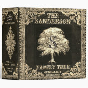 Gold Family Tree Genealogy Album 3 Ring Binder (<em>$24.15</em>)