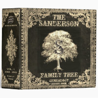 Gold Family Tree Genealogy Album 3 Ring Binder