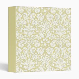 Gold fancy floral damask binders