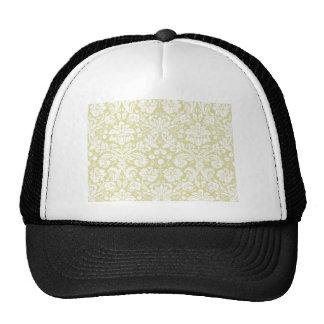 Gold fancy floral damask hat