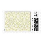 Gold fancy floral damask stamp