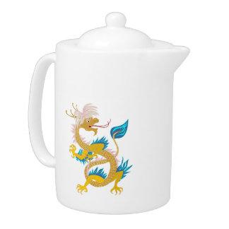 Gold Fashion Dragon on custom Teapot