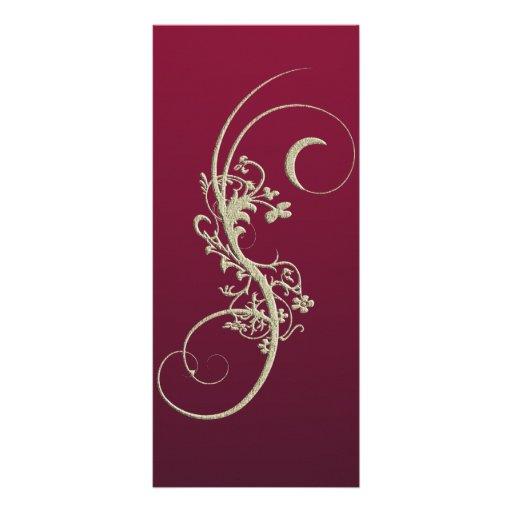Gold Faux Embossed Wedding Menu Card Custom Rack Cards