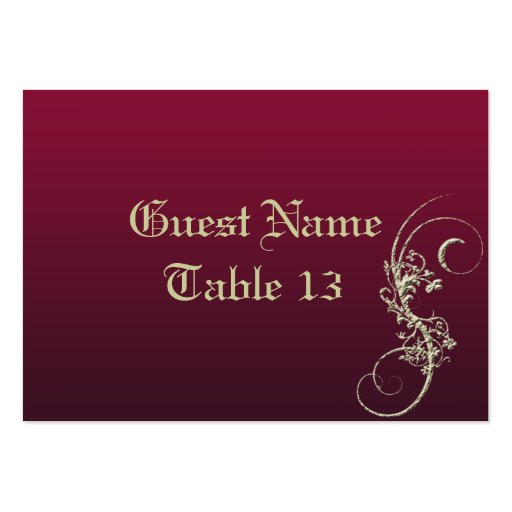 Gold Faux Embossed Wedding Table Number Card Large Business Cards (Pack Of 100)