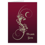 Gold Faux Embossed Wedding Thank You Greeting Cards