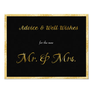 Gold, Faux Foil, Advice, and Well Wishes Card