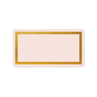 Gold faux foil blank address label