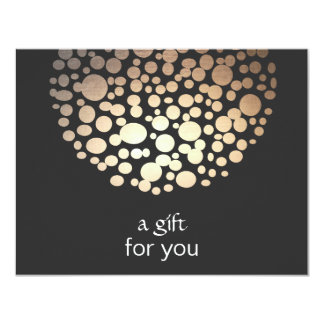 Gold Faux Foil Circles Salon Gift Certificate Card