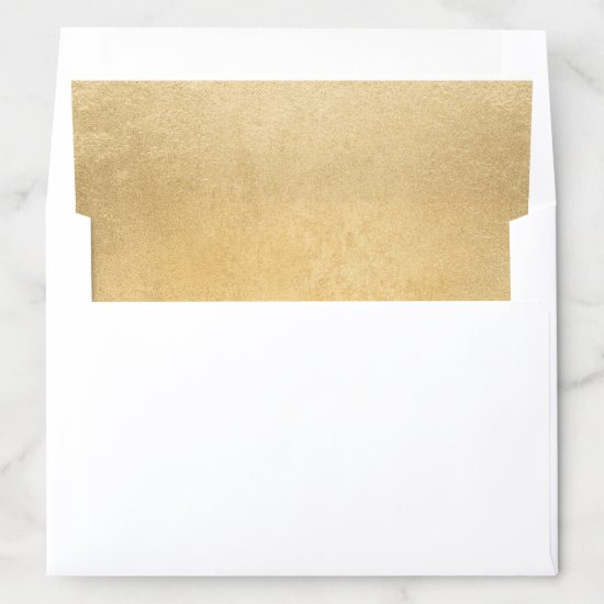 Gold Faux Foil Wedding Envelope Liner