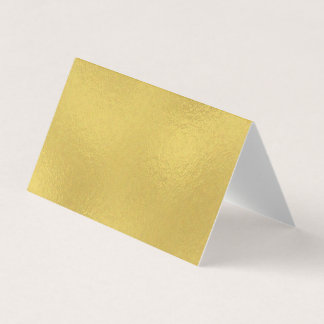 Gold Faux Foil Wedding Folded Place Cards