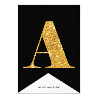 Gold Faux Glitter A Congrats Graduate Banner Card