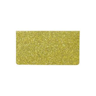 gold faux glitter checkbook cover
