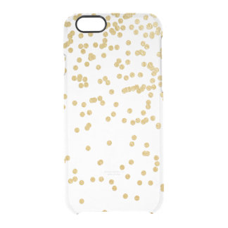 Gold Faux Glitter Confetti iphone6 Clear Case Uncommon Clearly™ Deflector iPhone 6 Case