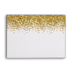 Gold Faux Glitter Envelope at Zazzle