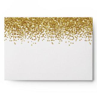 Gold Faux Glitter Envelope