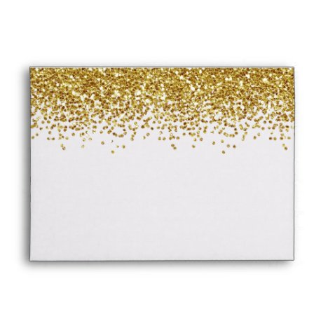 Gold Faux Glitter Envelope