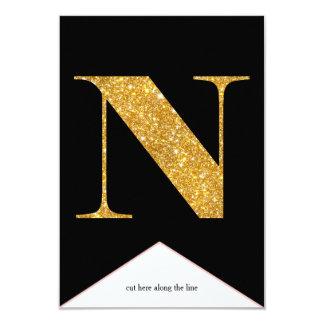 Gold Faux Glitter N Congrats Graduate Banner Card