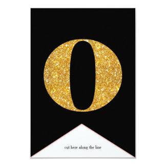 Gold Faux Glitter O Congrats Graduate Banner Card