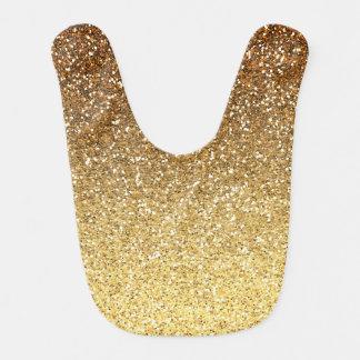 Gold Faux Glitter Ombre Baby Bib