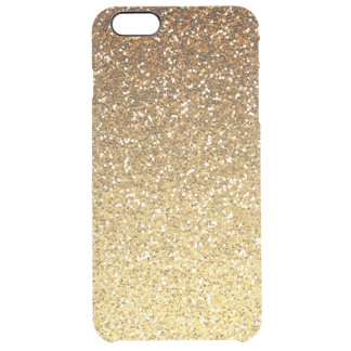 Gold Faux Glitter Ombre Uncommon Clearly™ Deflector iPhone 6 Plus Case