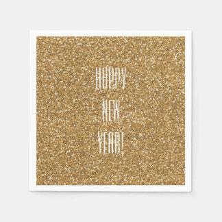 Gold Faux Glitter Paper Napkin