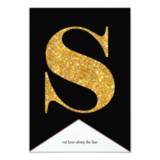 Gold Faux Glitter S Congrats Graduate Banner Card