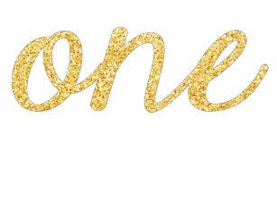 a0ff549e4 Gold Faux Glitter Script 1st Birthday Baby Bodysuit