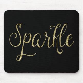 Gold Faux Glitter Sparkle Mouse Pad