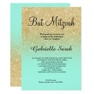teal bat mitzvah cards greeting photo cards zazzle