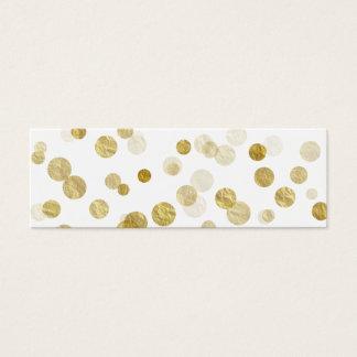 Gold Faux Metallic Dot Bokeh Background Bling Mini Business Card