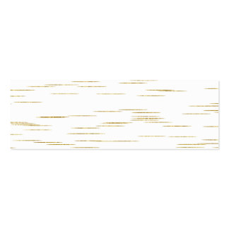 Gold Faux Metallic Line Background Sequins Bling Double-Sided Mini Business Cards (Pack Of 20)