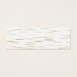 Gold Faux Metallic Line Background Sequins Bling Mini Business Card