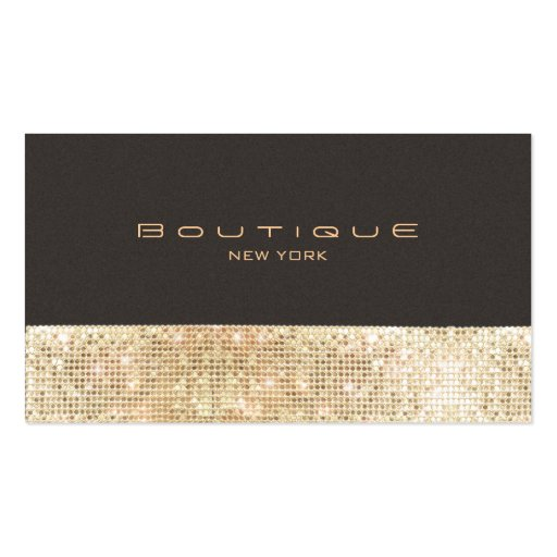 Gold FAUX Sequins Suede Look Beauty & Chic Fashion Double-Sided Standard Business Cards (Pack Of 100)