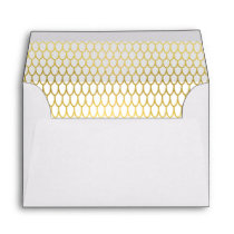 Gold Feather Envelope