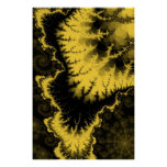 Gold Feathered Star Poster