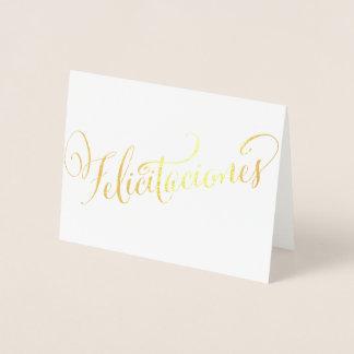Gold Felicitaciones Grad Birthday Quinceañera Foil Card